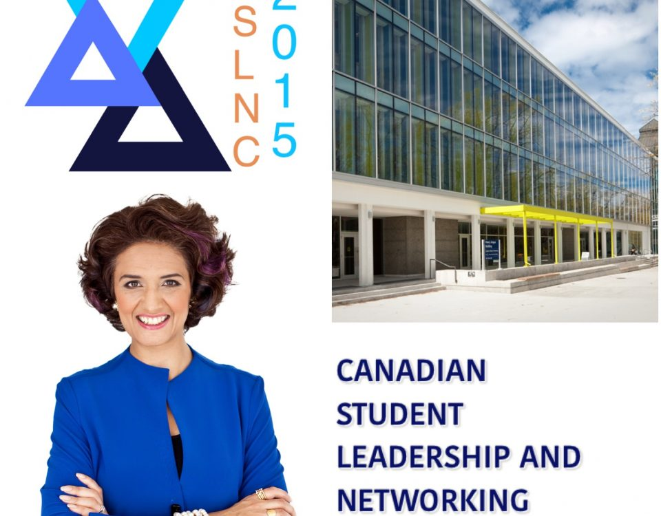 A poster of Narges at the Canadian student Leadership and Networking Converence