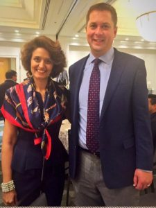 Narges Nirumvala with the Hon. Andrew Scheer