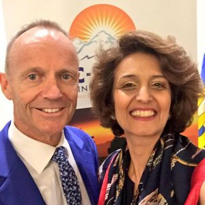 Narges Nirumvala with Hon. Stockwell Day