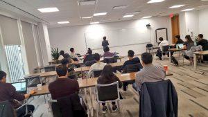 Narges Nirumvala training young entrepreneurs in 2019.